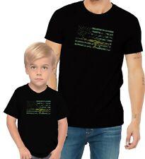 M16 Gun US Flag Adults Mans & Womens & Kids & Boy & Girl T-Shirt