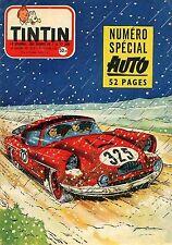 Tintin n° 433 B++ Spécial Auto Avec le Chèque tintin