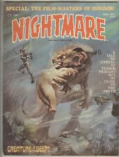 Nightmare #5 August 1971 VG Creature of the Deep