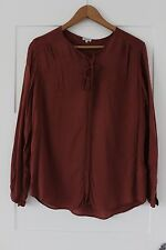 BELLEROSE Rust blouse top Size 1 (UK 8)