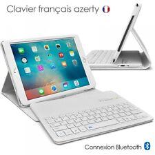 Etui Blanc avec Clavier Français Azerty Bluetooth pour Apple iPad Mini 4