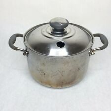 ROYAL PRESTIGE 4 QT 9 Ply T-304 Surgical Stainless Steel Stockpot Chicken Stew