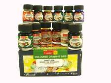 Camel Indian Ink - 12 x 20ml Assorted Colours