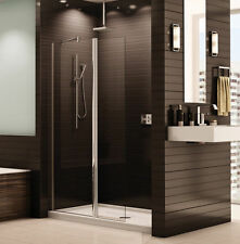 "FLEURCO 39"" x 75"" BANYO SIENA 1/4"" GLASS PIVOT FRAMELESS SHOWER SHIELD DOOR"