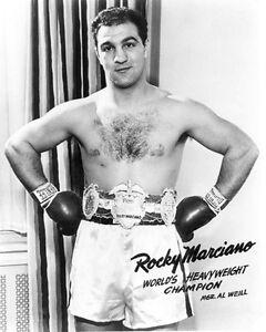Heavyweight Champion Boxer ROCKY MARCIANO Glossy 8x10 Photo Boxing Print Poster