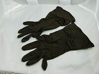 VTG FOWNES Dark Brown Rayon Gloves Size 6 1/2 - Gently Used