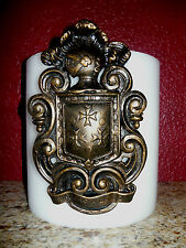 Shield Candle Pin, Old World, Medieval, Eagle, Fleur de Lis, Cross, Crown Knight
