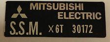 KAWASAKI H2 750 H2A H2B H2C H1D 500 RECTIFIER MITSUBISHI CAUTION WARNING DECAL