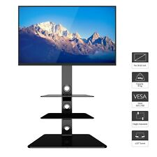 Cantilever Glass TV Stand with 3 Shelves Bracket for 30 - 65 inch Plasma LCD TV