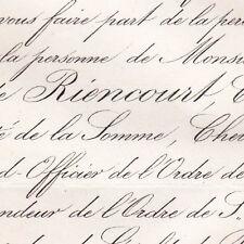 Adrien Roger De Riencourt Paris 1862 Somme IIème Empire