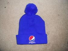 9b3542a95ce Pepsi Cola Pepsi Winter Hat Cap Pom Pom Blue Classic Logo EUC SWEET Beanie  C