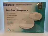 TP-Link AC2200 Deco M9 Plus Smart Home Mesh Wi-Fi System 4500 Sq Ft Pack of 2