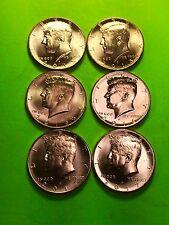 2015,2016 2017 Philadelphia , Denver  Uncirculated Kennedy Half Dollar 6 Coins