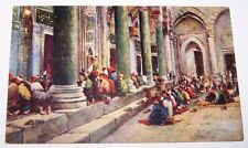 Ottoman Turkey Turkish Moslems Pray Mosque Islam Islamic Muslim Henry's Postcard