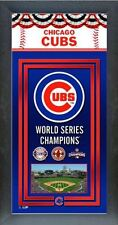 "Chicago Cubs 2016 World Series Champions Framed Championship Banner - 14.5"" x 27"