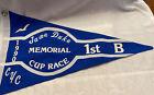 Vintage Canvas Charlevoix Yacht Club 1990 Burgee Jame Duke Memorial Cup 1st B