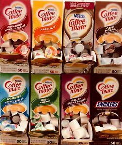 20 Nestle Coffee Mate Creamers, You Choose Selection Cinnamon, Salted Caramel