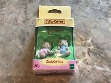 New Epoch Calico Critters Sandy Cat Twins Animal Characters Miniatures! Rare