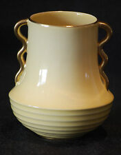 Carlton Ware Pale Yellow Vase 9cm High - Great Art Deco Shape. Excellent Cond.