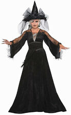 Spellcaster Witch Black Dress Adult Womens Standard Size Costume NEW