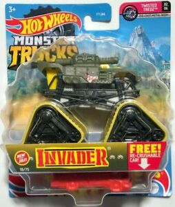 NEW 2021 Hot Wheels Monster Jam NEWEST Invader w/ Treads  D CASE FRESH FREE SHIP