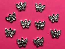 Tibetan Silver Butterfly Charms #2 - 10 per pack
