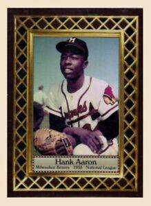 HANK AARON Milwaukee rookie / MC Fan Club serial #/300 / NM+ free shipping