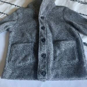 Old Navy Boy's XS (5) Button-Up Cardigan Sweater Marled Grey New without Tags