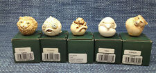 5 Lot Harmony Kingdom Roly Polys Marble Resin Figurines Mint in Boxes
