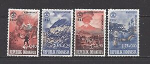 INDONESIA - B207-B210+B210a S/S - MNH - 1967 ISSUES - RELIEF NATURAL DISASTERS