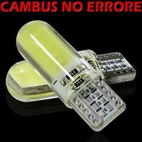 10 Lampade Led T10 Bianco Canbus Gel Silica SMD COB 12 chips Silicone 12V VStore