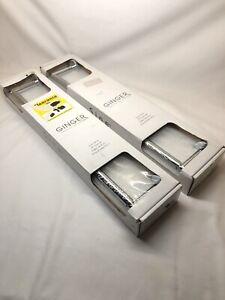 "2 New Sealed Ginger - Sine Series 18"" Towel Bar Silver Polished Chrome- 0202/PC"