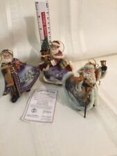 Thomas Kinkade Santa Ornaments