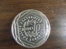 FRANCE ROULEAU 10 EURO 2010 ARGENT DRAPEAU DES ANCIENNES RÉGIONS PAYS DE LOIRE