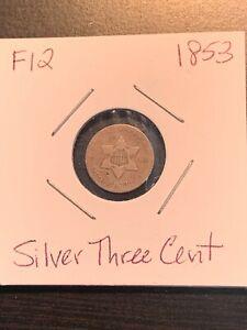1853 Silver Three Cent