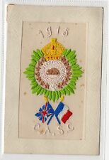 CANADIAN ARMY SERVICE CORPS: Embroidered Silk postcard (C1817).