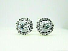 Authentic PANDORA Classic Elegance Stud Earrings Clear CZ 296272CZ