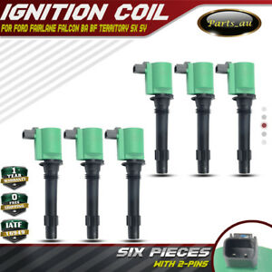 6x HEAVY DUTY IGNITION COIL PACK FOR FORD TERRITORY BA BF FALCON 6cyl 4.0L