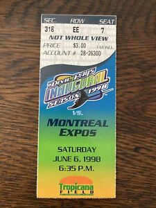 MLB HOFer Wade Boggs Ticket Stub Only Career Game Ejection 6/6/1998 Expos @ Rays