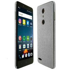 Skinomi Brushed Aluminum Skin+Clear Screen Protector for ZTE ZMax Pro