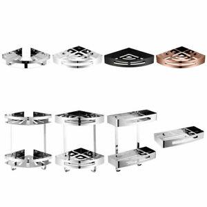 Quality Bathroom Corner / Square Shelf Stainless Steel Chrome / Black /Rose Gold