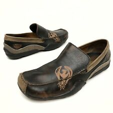 "@@ Skechers ""Socks Suck"" Slip-On Loafer-Dragon-Brown Leather -Men's Sz 11 Eu45"