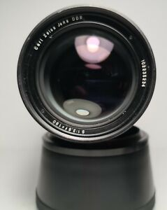 Minty! Vintage Carl Zeiss Jena DDR Lens f/2.8 180 Exakta Mount w/filter + Hood