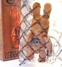 "Toy2r 3"" Key Chain Qee Wood Grain Series Bunny Rabbit BuneeQ Kidrobot Art Toy"