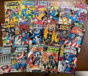 Lot 17 Marvel Comics CAPTAIN AMERICA 299 351 363 364 366 368 369 372 374 425