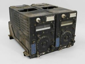 ARC-5 CBY-52212 Rack w/ T-21 WWII Radio Aircraft Transmitters (untested)