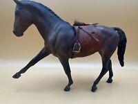 Vintage Breyer Horse Hanoverian Bay Large Dark Brown Leather Saddle