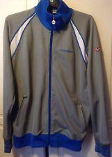 Mckenzie Mens Medium Tracksuit Zipped Top/Jacket Grey/Blue