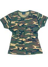 T-Shirt Damen 3-color Woodland Camouflage Tarnung US Army Camo Women Shirt #2