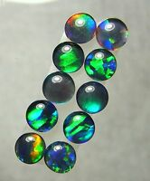 Australian Opal Gem Quality Opal Triplet Pairs,  Lightning Ridge 5mm, 10pc  8261